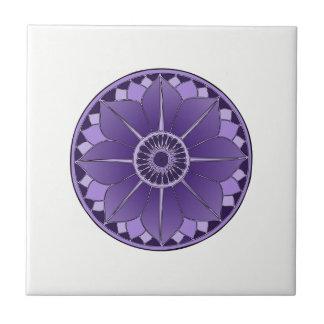 NAMASTE Purple Flower Spiritual Lotus Mandala Tile