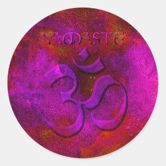 Namaste Purple Red Stickers