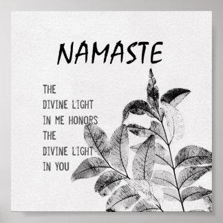 Namaste quote poster nature art print
