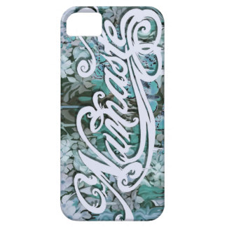 Namaste Script in blue iPhone 5 Cases