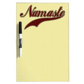 Namaste Stylish Red Burgundy Dry Erase Whiteboards