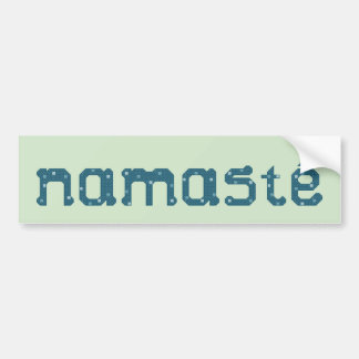Namaste Teal Bumper Sticker