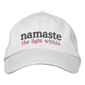 Namaste the light within embroidered baseball caps