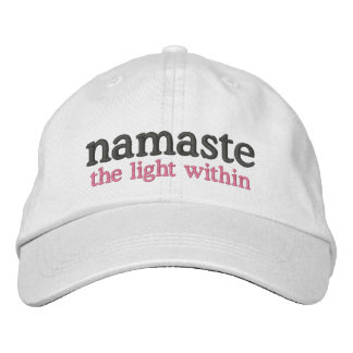 Namaste the light within embroidered hat