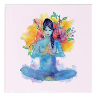 Namaste Watercolor Meditation | Acrylic Art