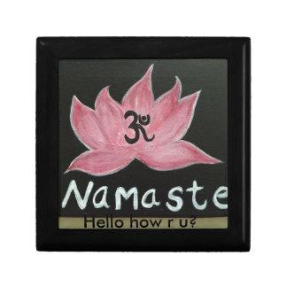 Namaste Welcome to Yoga Keepsake Box