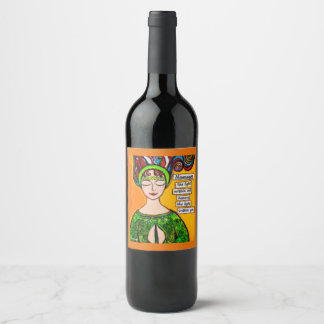 Namaste Wine Label, Yoga Label, Namaste Label