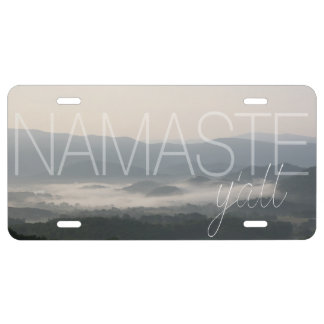 """Namaste Y'All"" - Smoky Mountains - license plate"