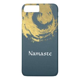Namaste Yoga Meditation Instructor Blue Gold ZEN iPhone 7 Plus Case