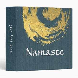 Namaste Yoga Meditation Instructor Blue Gold ZEN Vinyl Binders