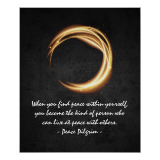 Namaste Yoga Meditation Quotes Black Gold ZEN Sign
