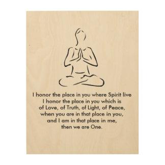 Namaste Yoga Pose Wood Word Art