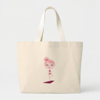 Namaste Yogi Large Tote Bag