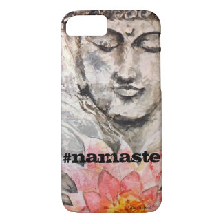Namaste Zen Buddha Watercolor Art Phone Case