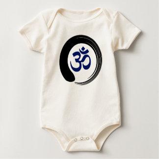 Namaste Zen Circle Meditation Prayer Ohm Aum Om Baby Bodysuit