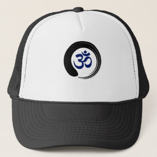 Namaste Zen Circle Meditation Prayer Ohm Aum Om Trucker Hat
