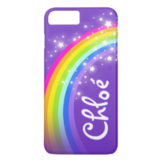 Name (5 letter) rainbow indigo purple iphone case