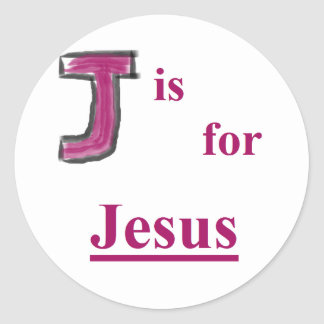 """Name Above All Names Sticker """"J"""""""