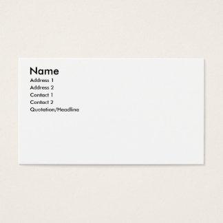 Name, Address 1, Address 2, Contact 1, Contact ... Business Card