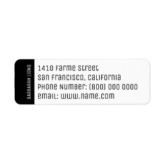 name, address, phone number & email information