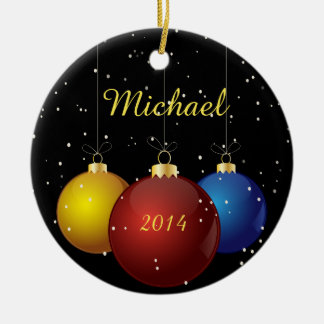 Name and Date Personalized Christmas Ornament