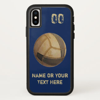 Name and Jersey Number Old Volleyball iPhone Cases