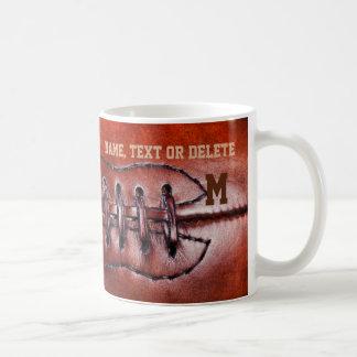Name and Monogram or Number Vintage Football Mug