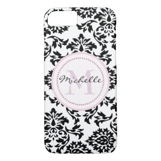 Name and name initial round monogram iPhone 8/7 case