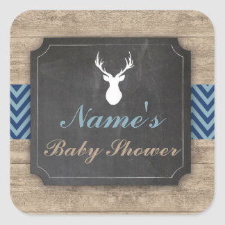 Name Baby Shower Stickers Stag Boy Labels