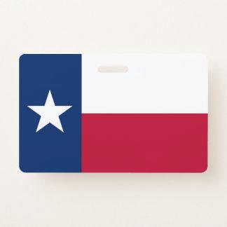 Name Badge with flag of Texas, USA