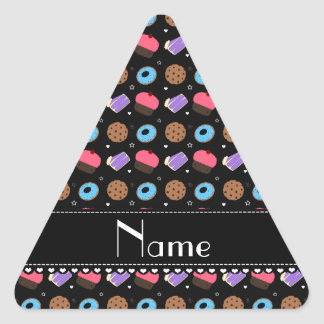 Name black cupcake donuts cake cookies triangle stickers