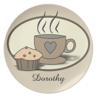 Name Coffee and Muffin Plate for Coffee Lovers