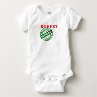 NAME - COPYRIGHT - ALL RIGHTS RESERVED BABY ONESIE
