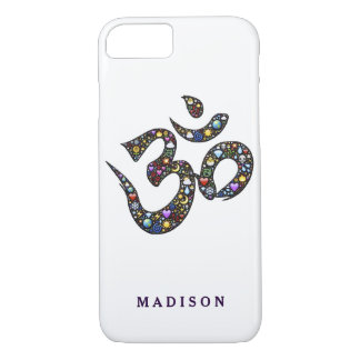 Name cute ohm emoji om symbol emojis hipster yoga iPhone 8/7 case
