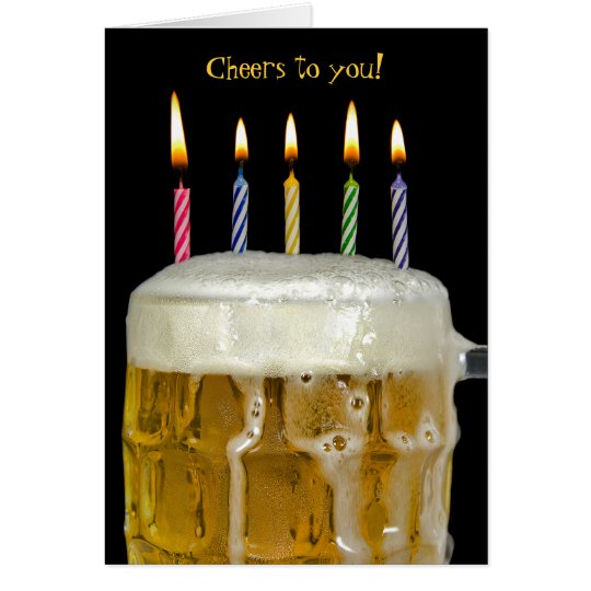 Name Day-candles in beer Card