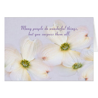 Name Day-crabapple blossoms on purple Card