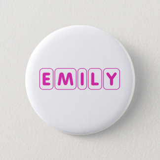 Name Emily 2 Inch Round Button