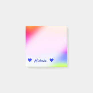 Name + Fun Multicolored Rainbow-Like Pattern Notes