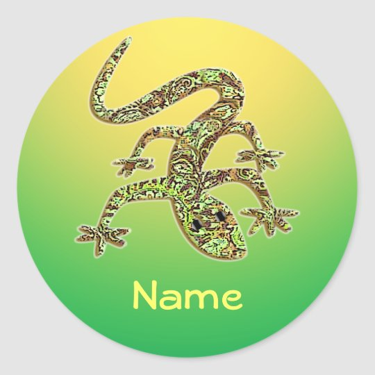 Name Gecko / Salamander / Lizard Sticker 1