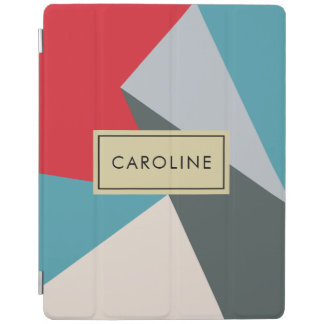 Name Geometric Modern Abstract iPad Smart Cover iPad Cover