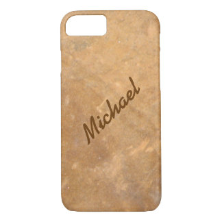Name Gold Stone Look iPhone 7 Case