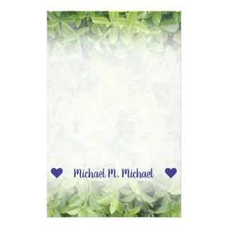 Name; Green Hedge Shrub Type Plant Photograph Stationery
