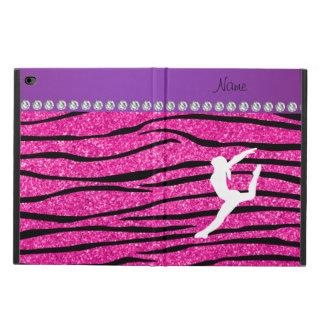 Name gymnast neon not pink glitter zebra stripes