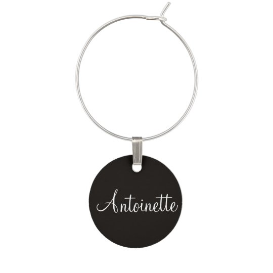 Name Heart Gold Contemporary Matching Colour Wine Charm