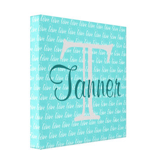 Name & Initial Art - Personalized Canvas Print