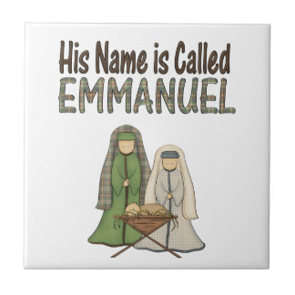 Name is Emmanuel Christmas Ceramic Tile