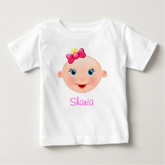 """""""Name it!"""" Baby Face Pink - Baby T-Shirt"""