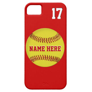 Name, Jersey Number  Softball iPhone 5S Cases, 5 iPhone 5 Cases