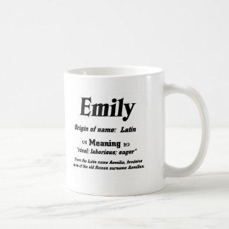 Name Meaning 'Emily' Coffee Mug