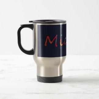 Name Michael Colorful Travel Mug